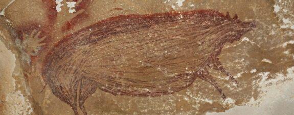 Pintura de un cerdito, la más antigua de la humanidad
