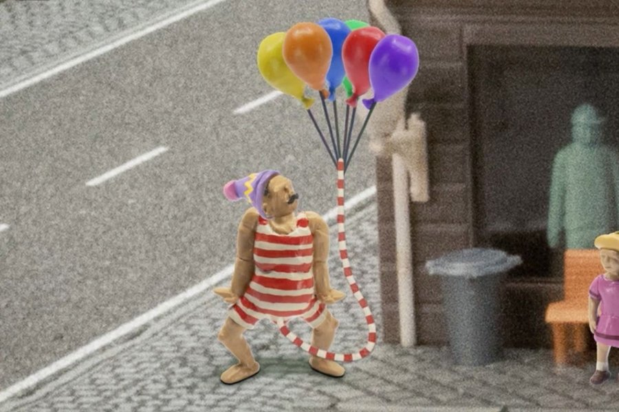 """Escena de """"John Dillerman"""",  Programa infantil animado sobre un hombre con pene grande"""
