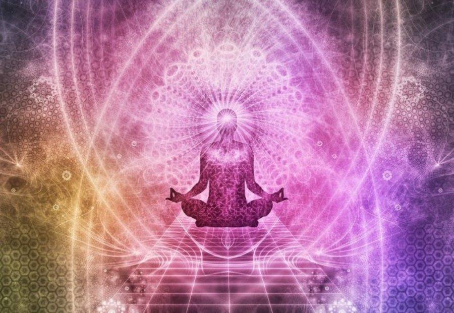 Séptimo Chakra ilustración de DMT, la molécula de dios y DMT experiencis espirituales