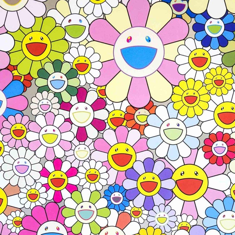Ilustración de flores de Takashi Murakami
