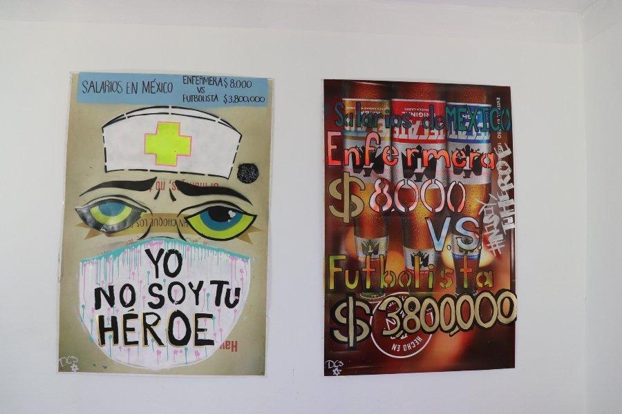 """Intervención """"Yo No Soy Tu Héroe"""" por Grupo D3 CHOK3"""