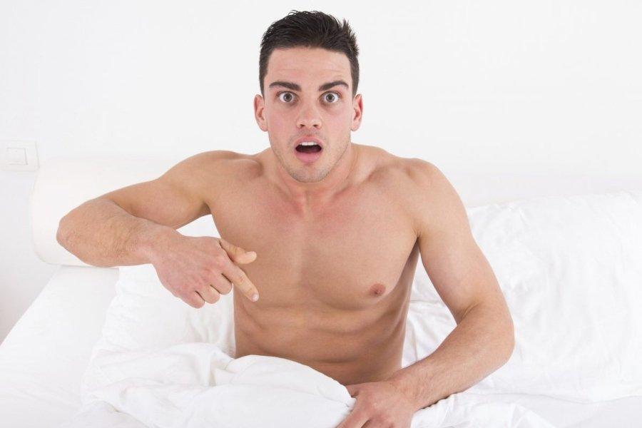 Hombre representando la impotencia sexual