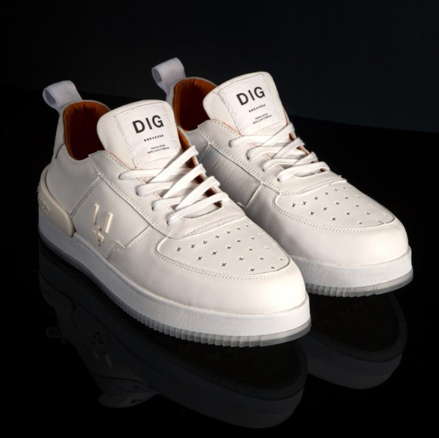 All White de Dig Sneakers