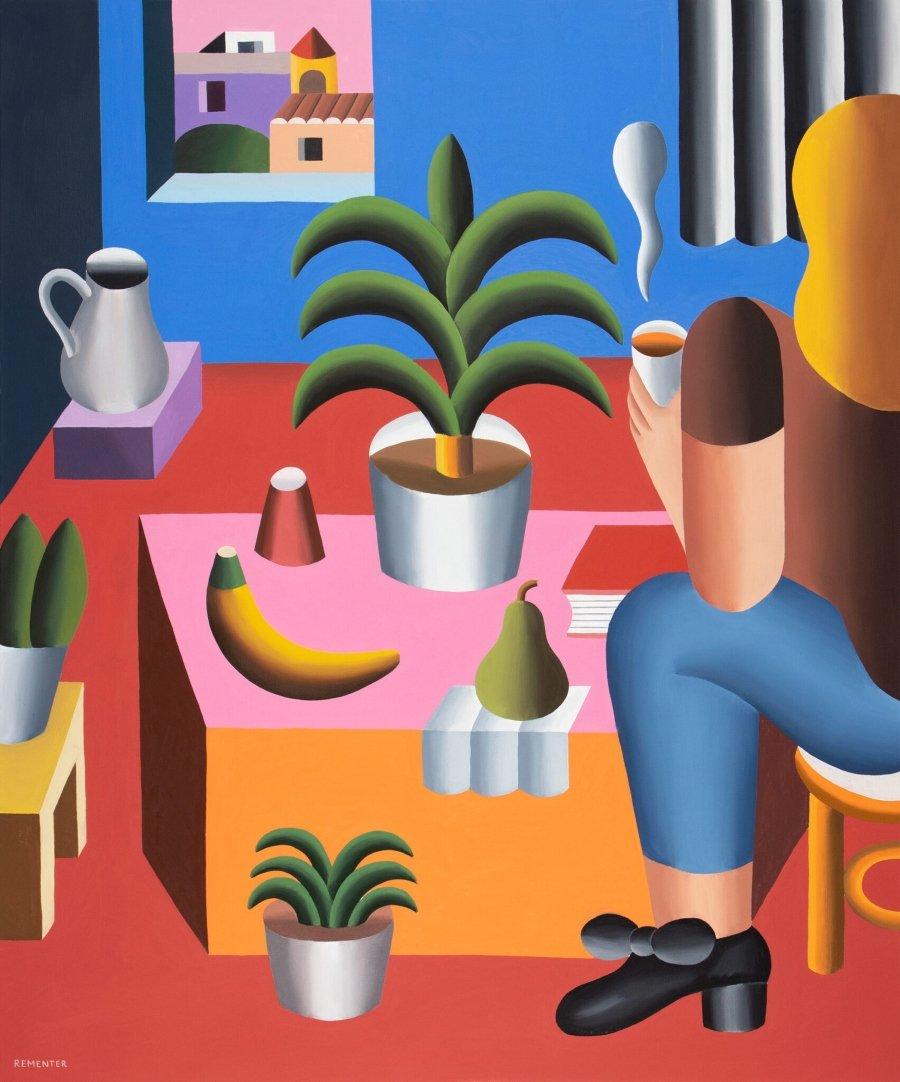 "Pintura ""New Growth"" de Andy Rementer en Domesticity"