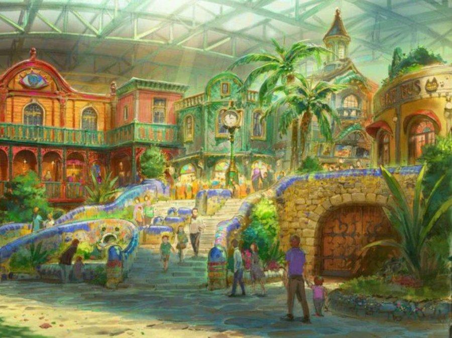 Aspecto del parque temático de Studio Ghibli