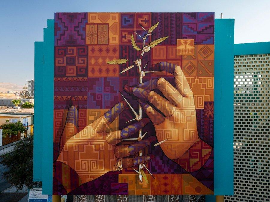 """Mural """"El Tamarugo"""" (detalle)"""
