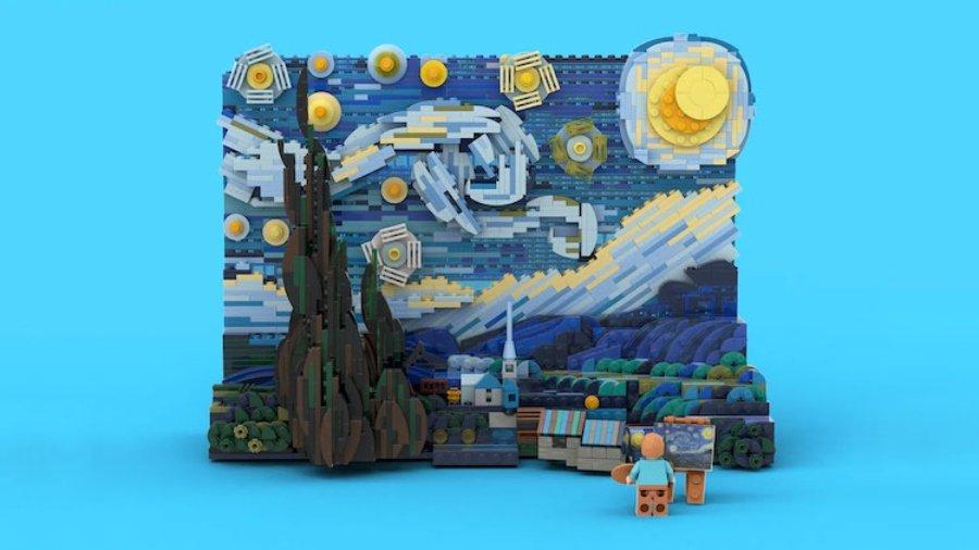 """""""La noche estrellada"""" de LEGO"""