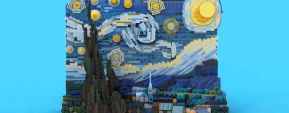 La noche estrellada de Van Gogh ahora en LEGO 3D