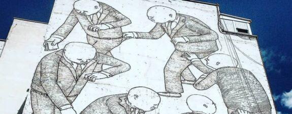 Mural de Blu fue borrado en Madrid debido a reforma