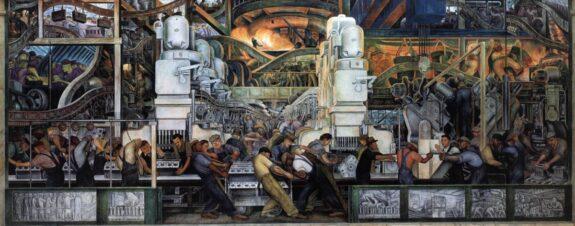 Murales de Diego Rivera y la tradición pictórica mexicana