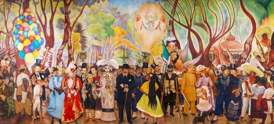Murales de Diego Rivera: Sueño de una tarde dominical en la alameda central