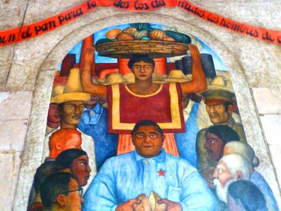 Murales de Diego Rivera en la SEP