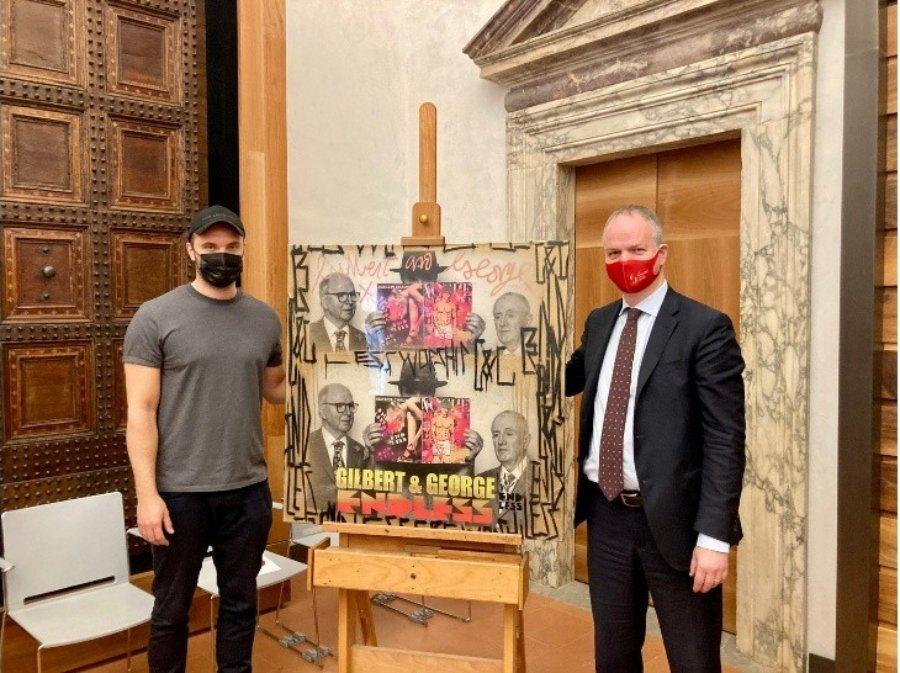 Pieza de street art entra en la colección de las Galerías Uffizi