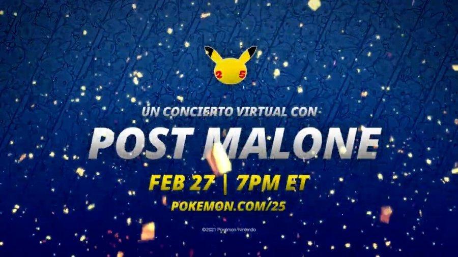 Post Malone ofrecerá concierto en Pokémon