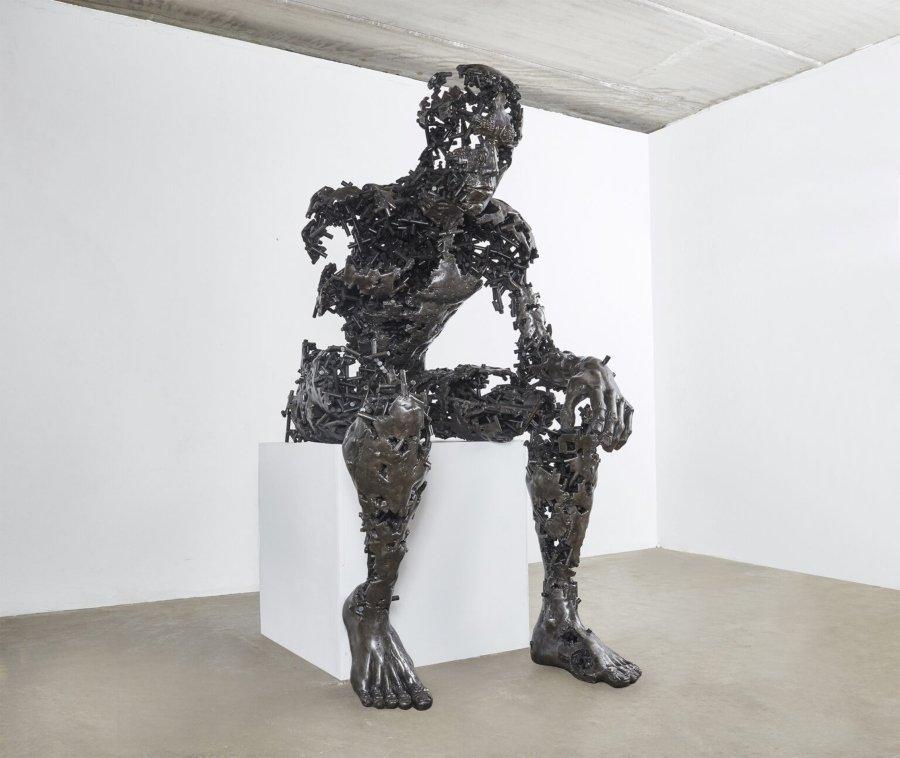Escultura humana de Regardt Van Der Meulen