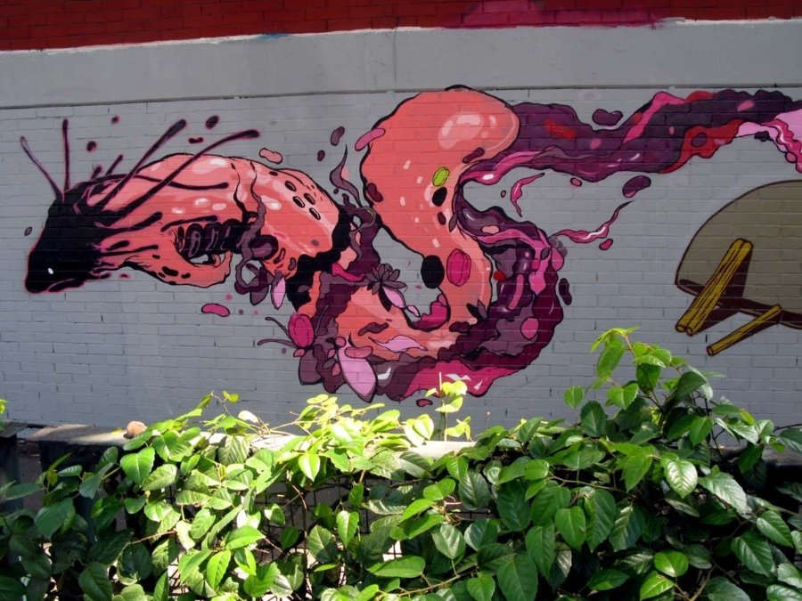 Mural de Ajolote por Seher One