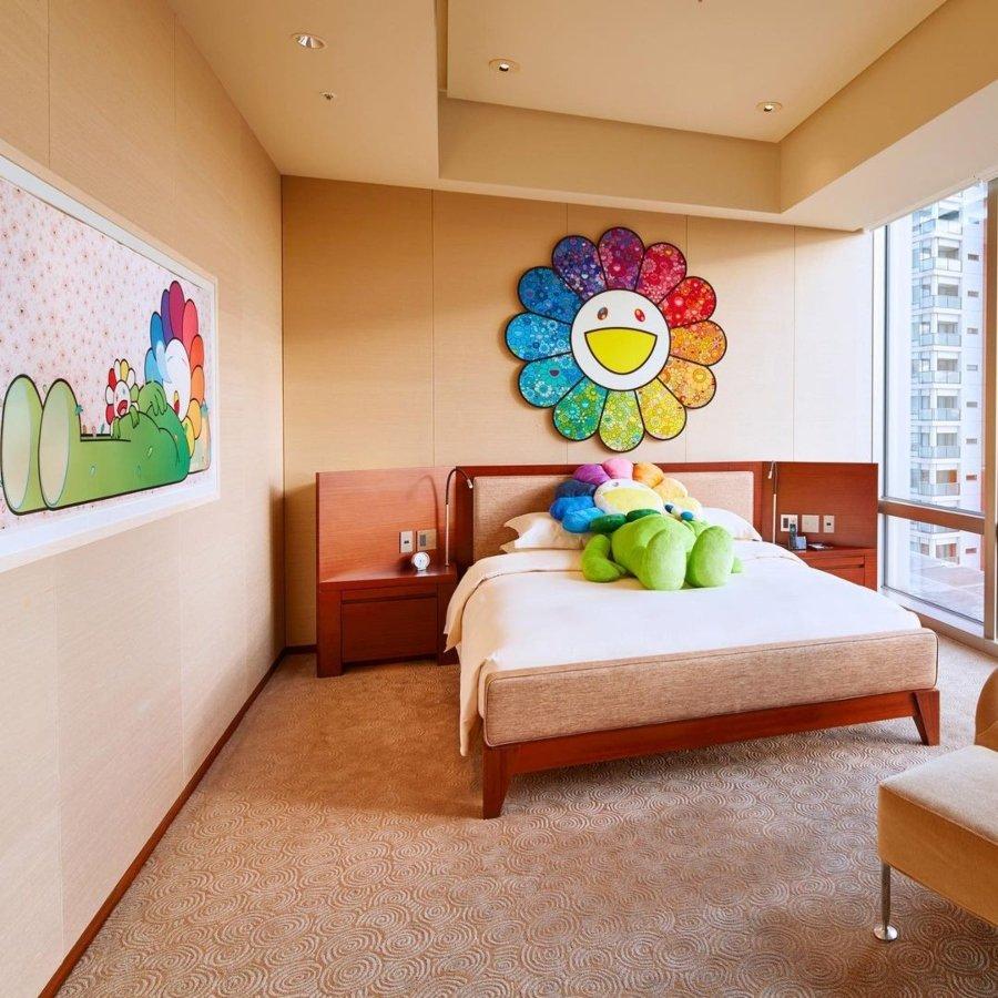 Aspecto de la suite diseñada por Takashi Mirakami en Grand Hyatt Tokyo