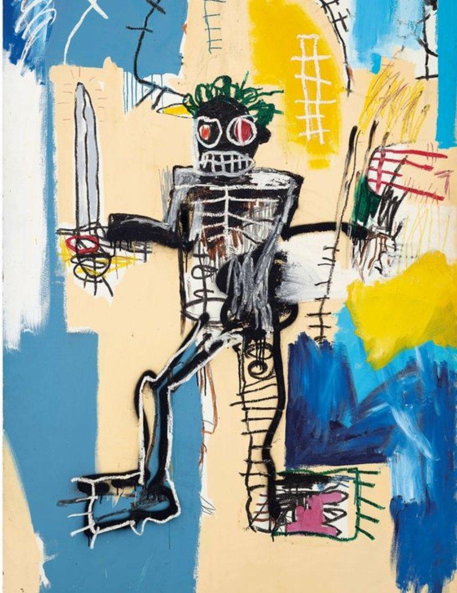 Warrior, pintura de Basquiat