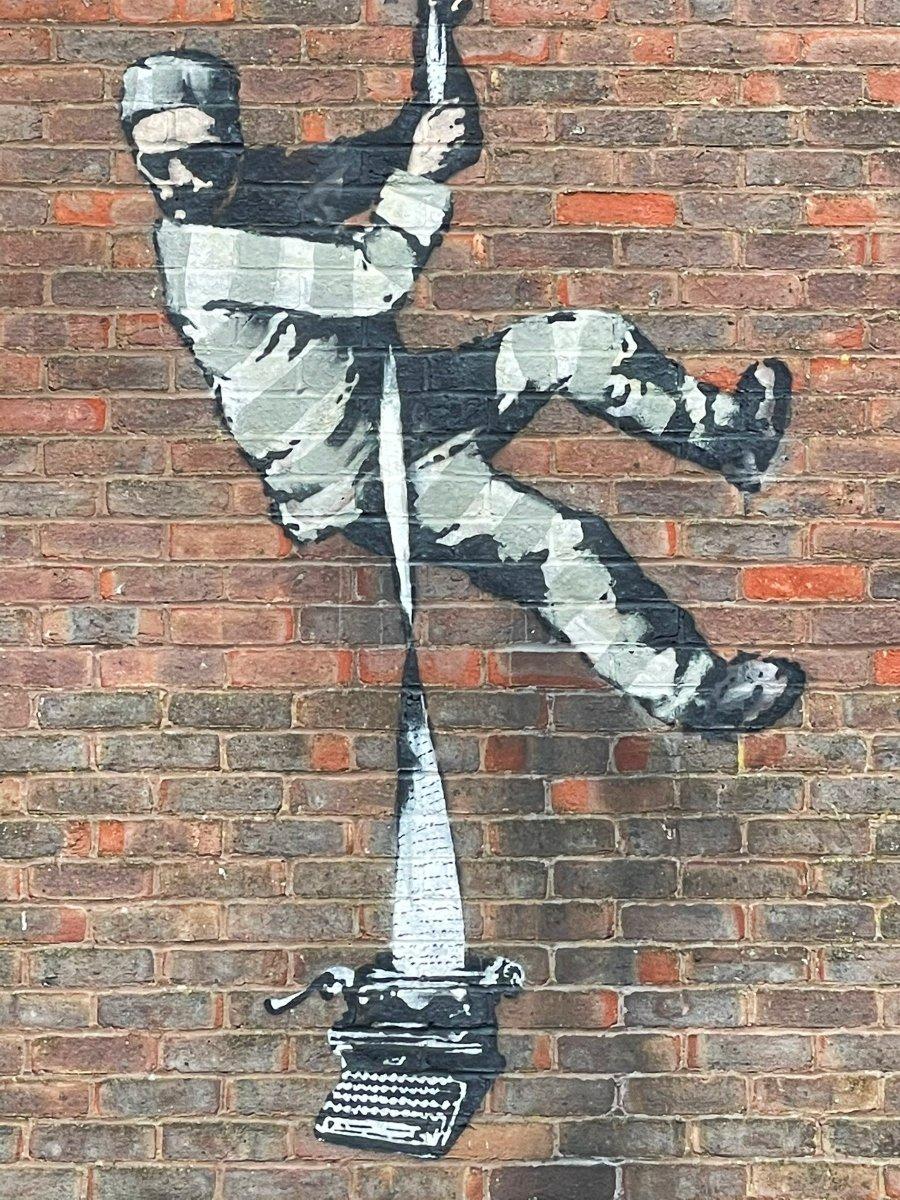 Nuevo Stencil de Banksy en cárcel de Reino Unido