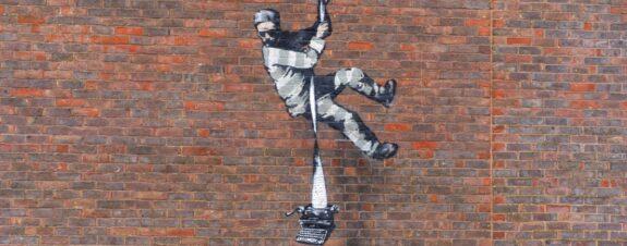 Banksy llegó a prisión de Reading  para dejar una nueva pieza