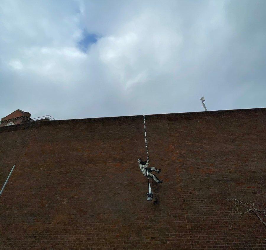 Banksy apareció con nuevo stencil en Reino Unido