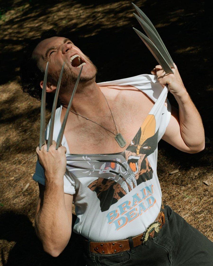 Prendas de la colección entre Brain Dead y Wolverine