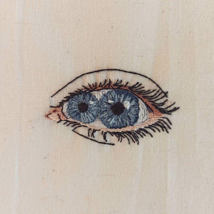 Bordado artístico de Brenda Risquez