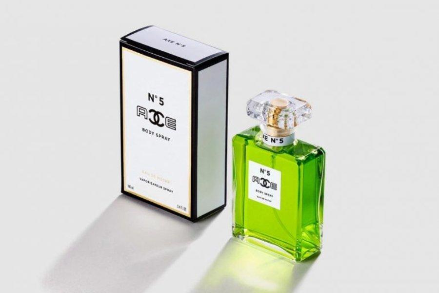 Colaboración Chanel x Axe creada por MSCHF