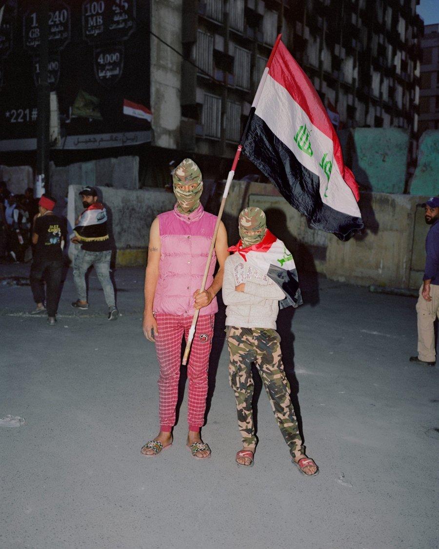 Fotografía de jóvenes irakíes
