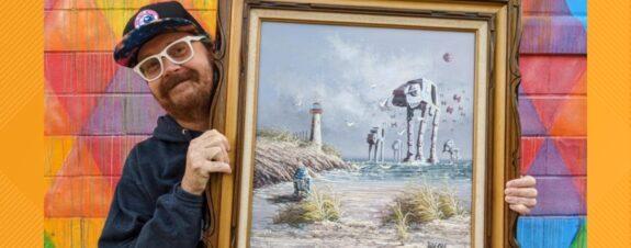 Dave Sherrill agrega un toque de cultura pop a pinturas vintage