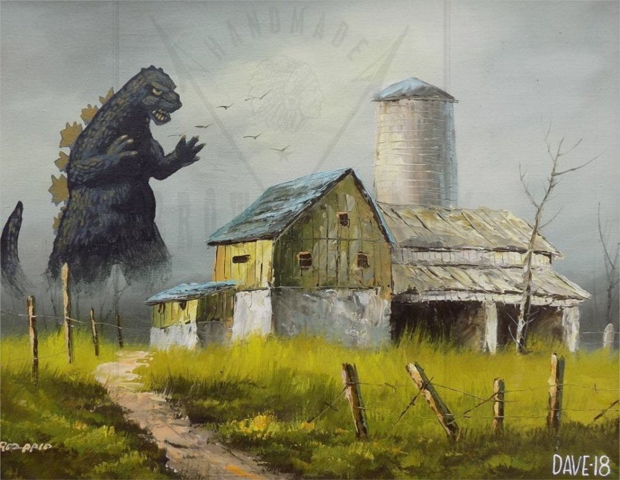 "cuadro de ""Godzilla"""