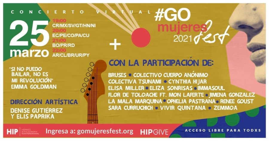 Cartel del GoMujeres 2021 Fest