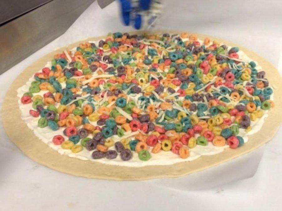 Loopy fruits pizza, una pizza de froot loops