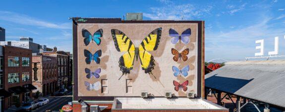 Mantra presentó un fabuloso mural de mariposas en Arkansas