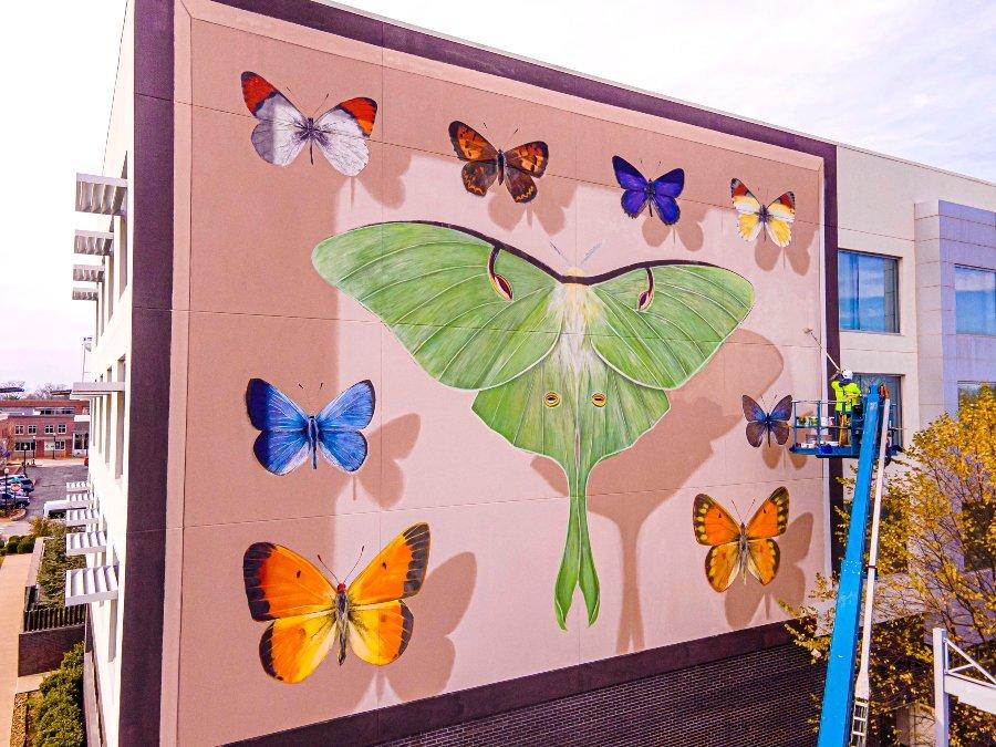Murales de mariposas en Arkansas