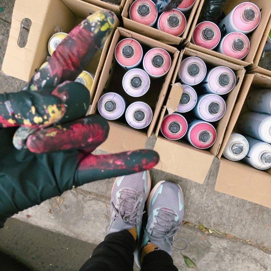 Murales de Mujeres / Tysa pintando