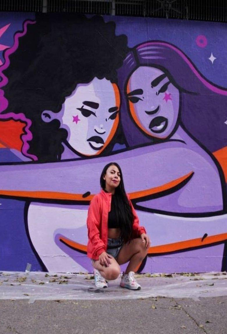 Murales de mujeres sobre el Día Internacional de la Mujer