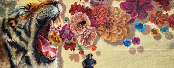 Naomi Haverland y su increíble mural realista