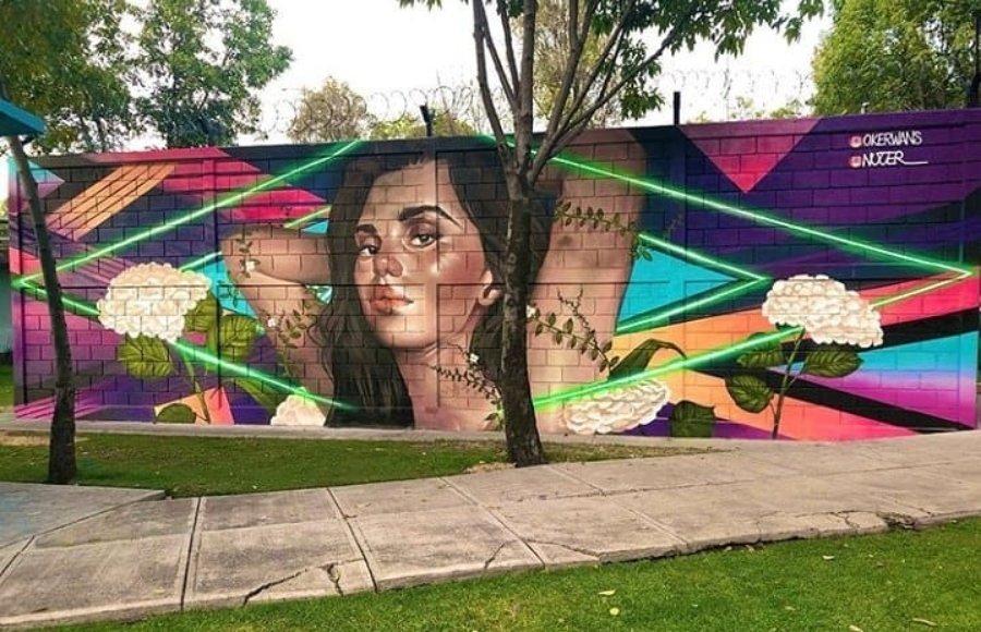 Pieza colaborativa de graffiteros