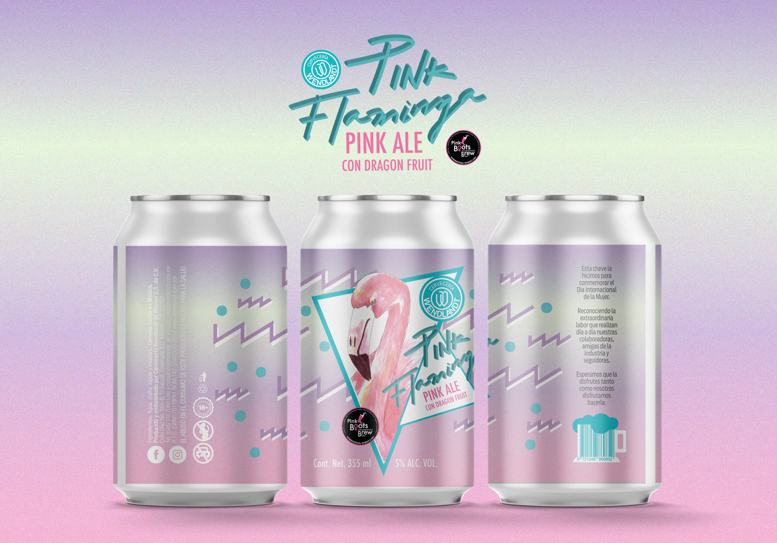 Cerveza Pink Flaminga de Cervecería Wendlandt
