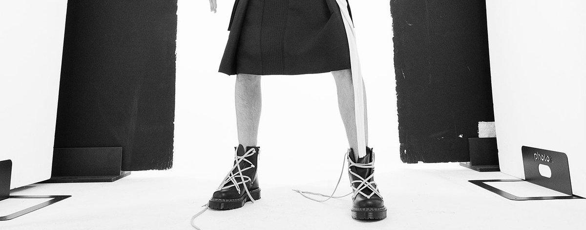 Rick Owens x Dr. Martens con sus primeras botas