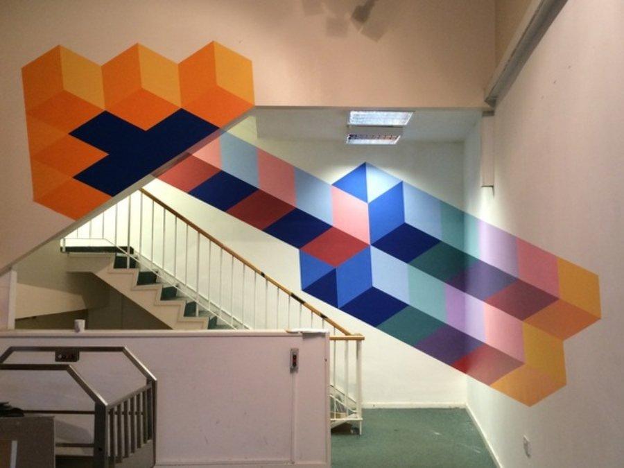 Mural de Rob Lee en escaleras