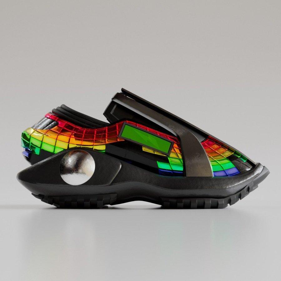 Aspecto de los sneakers digitales de RTFFKT Studios y Atari