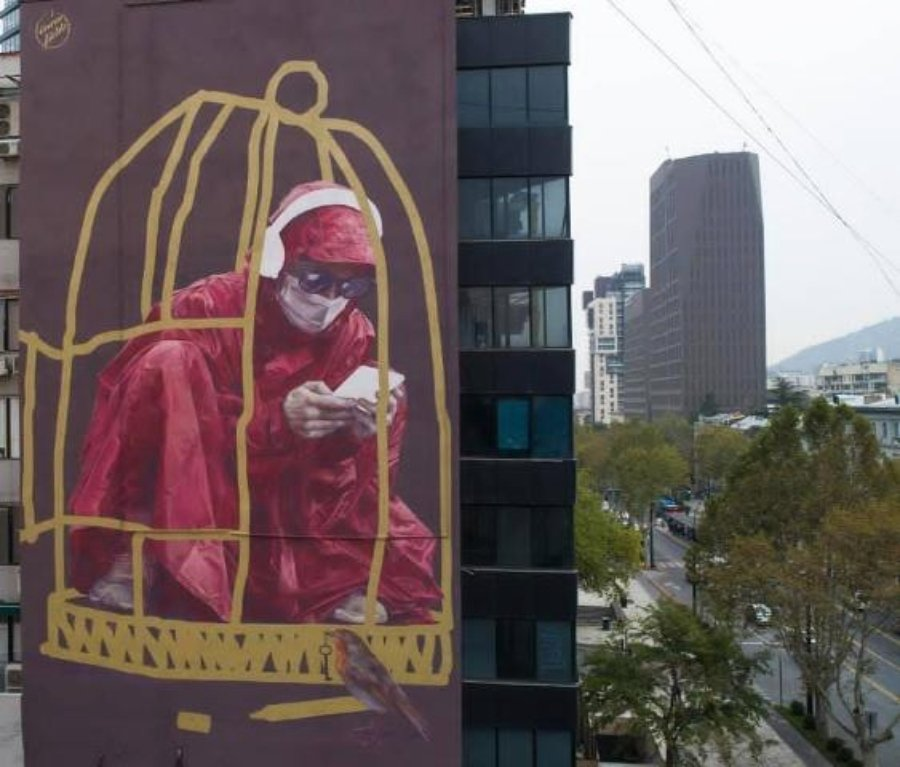 Mural de Innerfields en Tbilisi Mural Festival