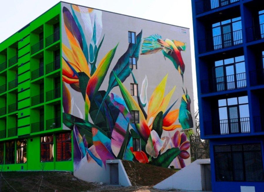 Obra en Tbisili Mural Fest