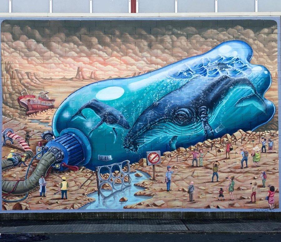 Mural de Delio RC en La Coruña