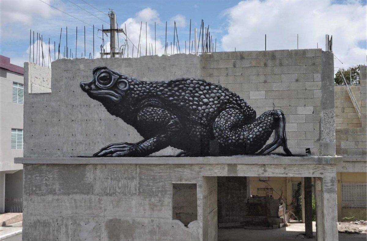 Mural de sapo