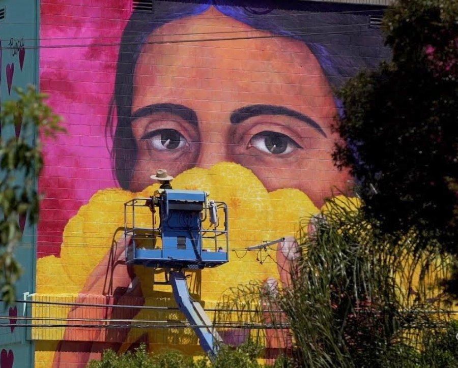 Parte del mural de Tatiana Ortiz Rubio
