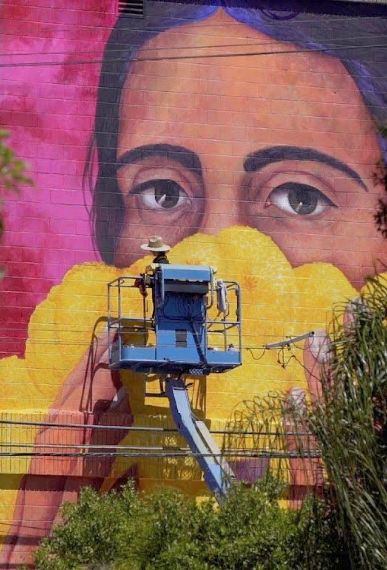 Tatiana Ortiz Rubio presentó mural para concientizar sobre propagación del Covid