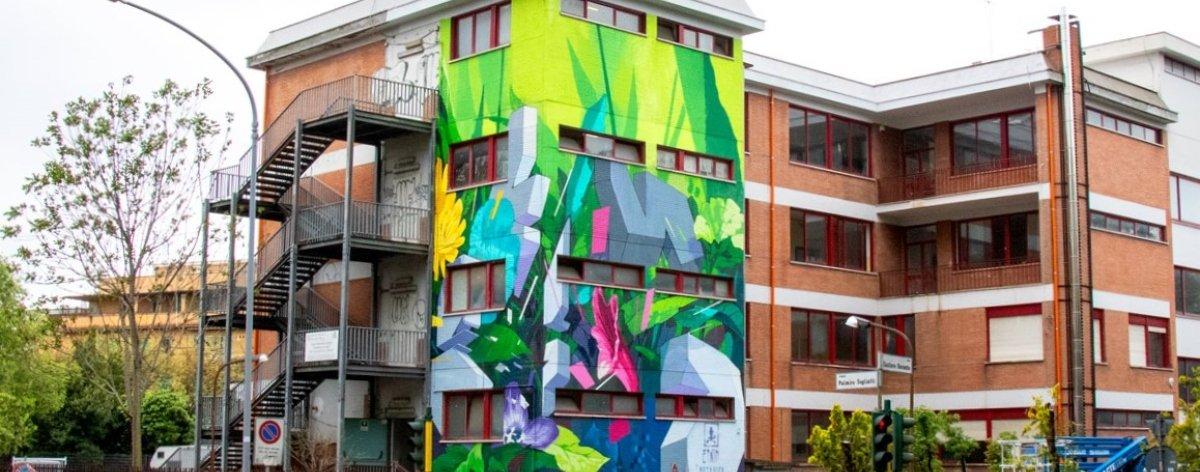 Etnik presentó su nuevo mural «Botánica Resistente»